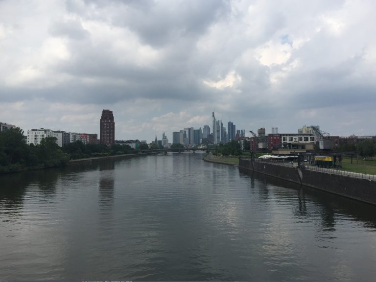 Frankfurt in the distance
